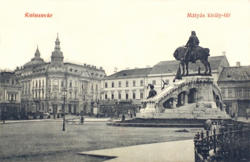 Kolozsvár:Mátyás király tér.1908