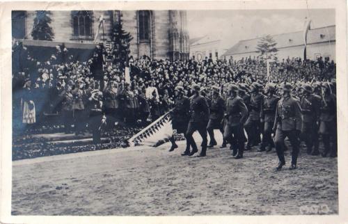 Kolozsvár:magyar honvédek felvonulása.1940