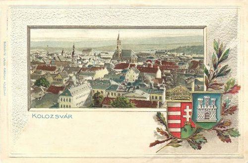 Kolozsvár,kőnyomat-dombornyomat,város cimere. 1901