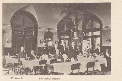 Kolozsvár: vasúti pályaudvari étterem.1911