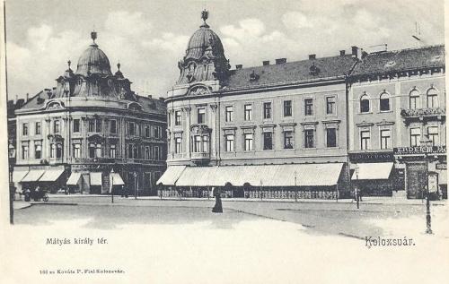 Kolozsvár:Mátyás király tér,Státus paloták.1904