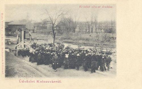 Kolozsvár:Erzsébet séta út átadási ünnepsége.1901