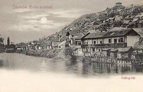 Kolozsvár:Felleg vár a Szamos folyóval.1900