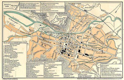 Kolozsvár:városi térkép,1897