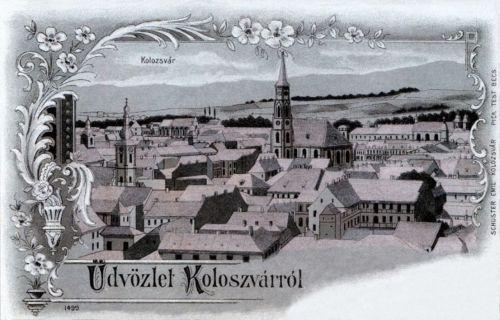 Kolozsvár:látkép,ezüst lithográfia-kőnyomat .1900