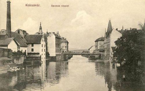 Kolozsvár:Szamos parti részlet.1910