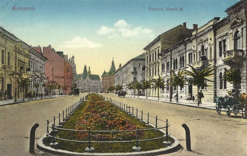 Kolozsvár:Ferencz József út,1916-ban.