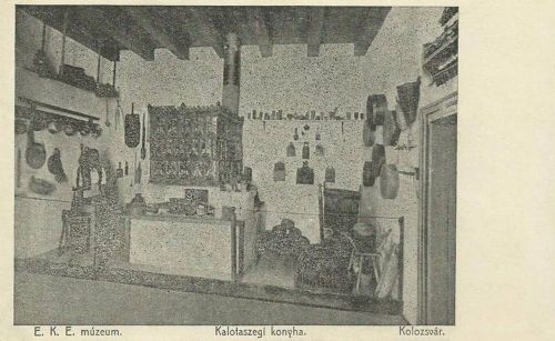 Kolozsvár:EKE múzeum,kalotaszegi konyha.1912