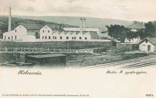 Kolozsvár:Reiter gyufa gyára.1900