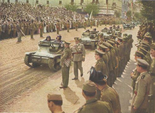 Kolozsvár:magyar honvédek bevonulása.1940