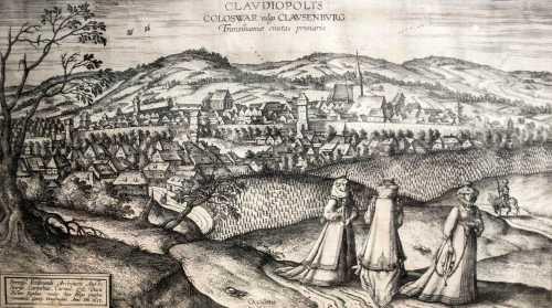 Kolozsvár látképe 1617-ben.