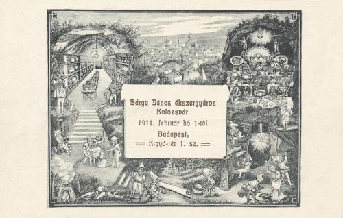 Kolozsvár:Sárga János ékszerész (ékszergyáros).1911