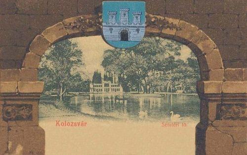 Kolozsvár-Klausenburg-Cluj:sétatéri tó (város cimere).1901
