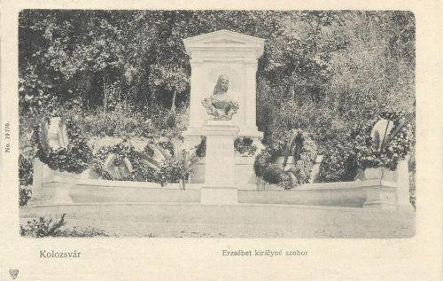 Kolozsvár,Erzsébet királyné szobra 1904