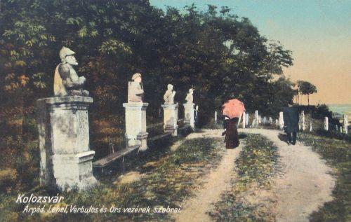 Kolozsvár,Hétvezér szobor csoport 1913