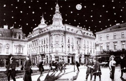 Kolozsvár,éjjel részegen hazafelé 1912