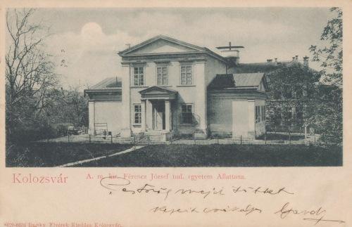 Magyar Királyi Ferenc József Tudományegyetem Állattani intézete,1903