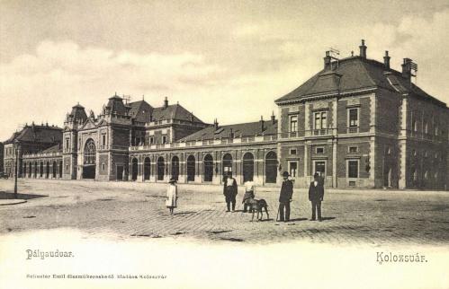Kolozsvár:pályaudvar,1904.