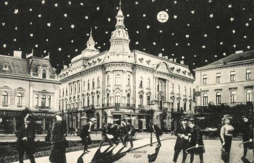 Kolozsvár:éjjel részegen hazafelé a New York szálloda előtt,1908.