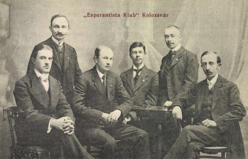 Kolozsvár:esperantista (esperanto) klub tagjai,1908.