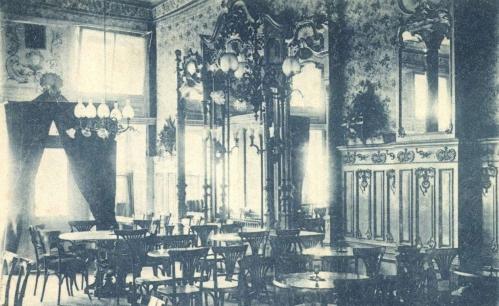 Kolozsvár:Európa kávéház belseje,1901.