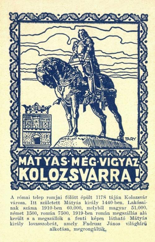 Mátyás még vigyáz Kolozsvárra,1920.