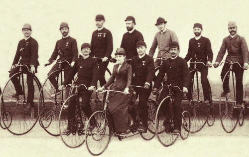 Kolozsvári Atlétikai Egyesület kerékpárosai,1888-ban.
