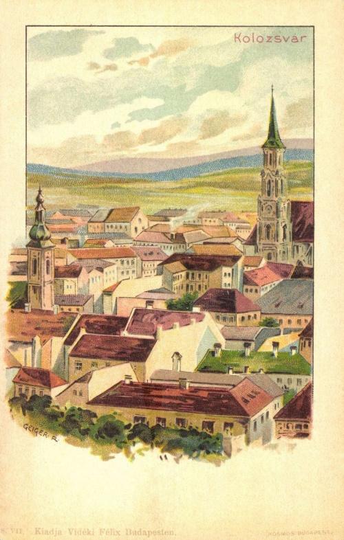 Kolozsvár:kőnyomatos látkép,1899.