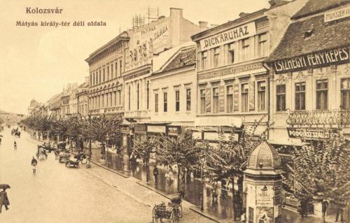 Mátyás király tér:Dick áruház,fényképész,1915.