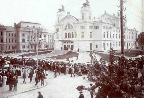 Kolozsvár:Magyar Nemzeti Szinház avatási ünnepsége,1906.
