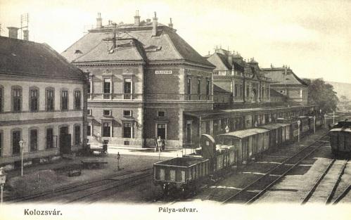 Kolozsvár:pályaudvar,vasútállomás,1906.