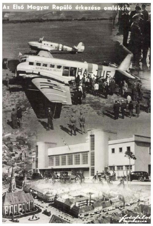 Kolozsvár:első magyar repülő érkezése,1940.