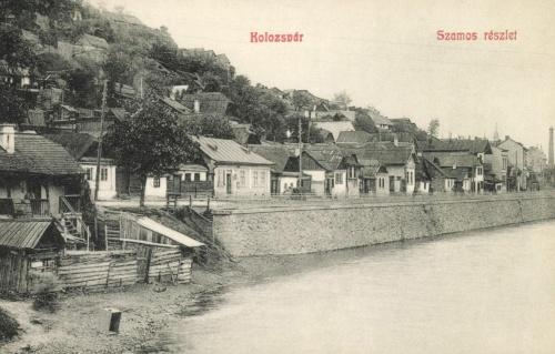 Kolozsvár:Szamos parti részlet,1908.