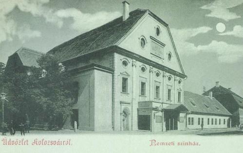 1821-ben épült régi Nemzeti Szinház a Farkas utcában,1900.