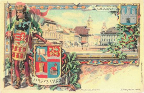 Kolozsvár-Kolozs vármegye :(kőnyomat-dombornyomat) cimeres.1901