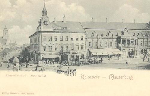 Kolozsvár:Központi szálloda ( Hotel Central).1900