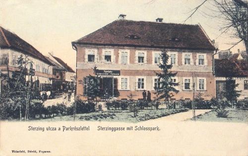 Fogaras:Sterzing utca,Gyógyszertár.1905