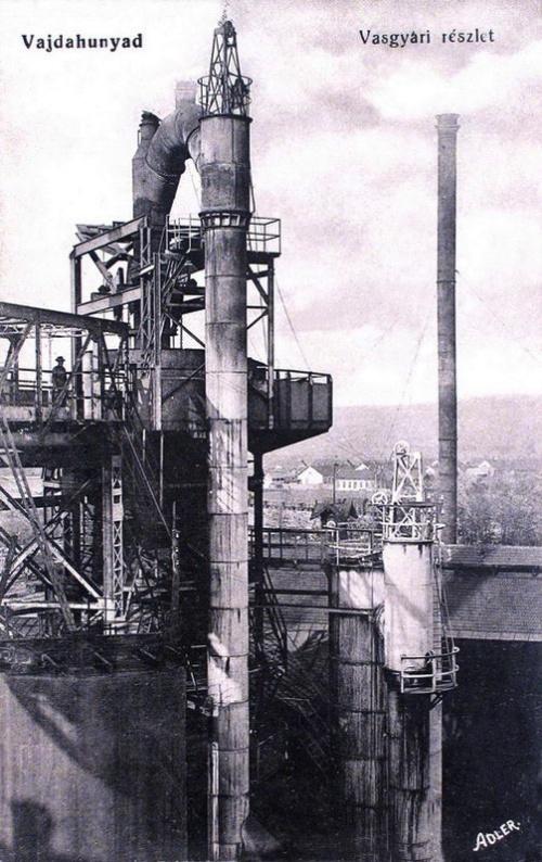 Vajdahunyad:vasgyári részlet.1915