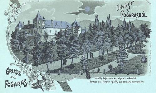 Fogaras-Fugreschmarkt-Fagaras:Apaffy fejedelem kastélya a XIV századból.1902