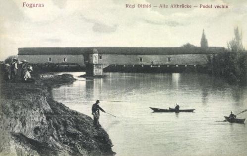 Fogaras:régi Olt hid,1907.