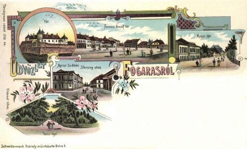 Vár,Megyeház,Városliget,Ferencz József-tér,Sterczing utca,Mercur szálloda,1899.