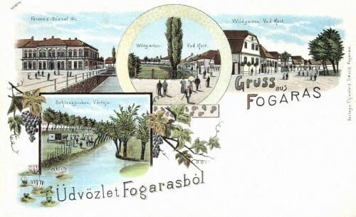 Fogaras:vár-tó,vadkert,Ferencz József-tér(lithó),1899.