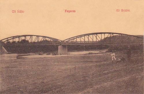 Fogaras:régi hid az Olt folyón.1908