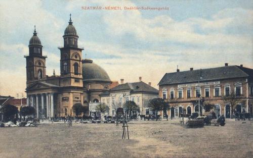 Szatmárnémeti:Székesegyház és Takarékpénztár.1915