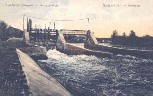 Szászrégen:Maros gát.1911