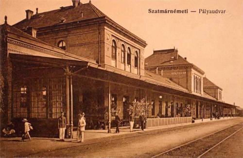 Szatmárnémeti:vasútállomás.1916