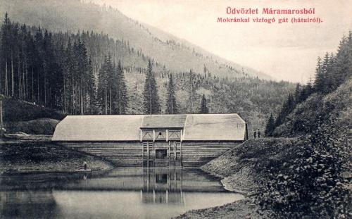 Máramarossziget:mokránkai vizfogó gát.1911