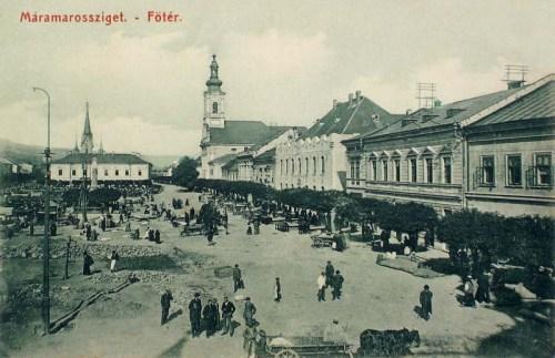 Máramarossziget:főtér.1912
