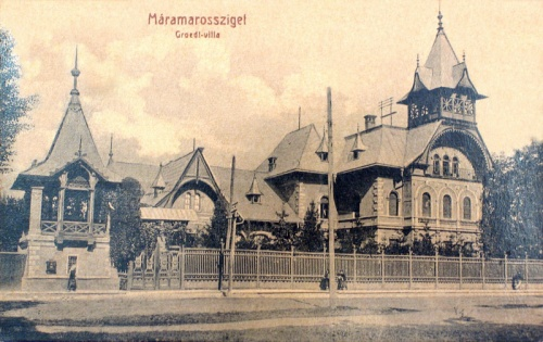 Máramarossziget:Groedl villa.1914