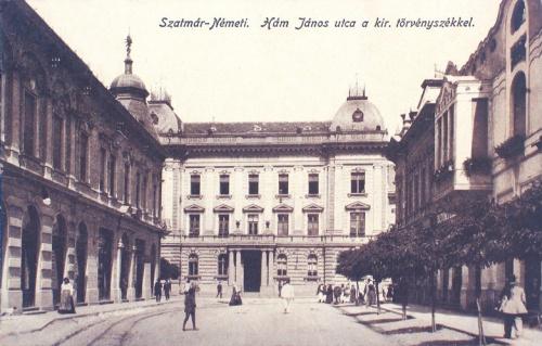 Szatmárnémeti:Hám János utca, királyi Törvényszék.1918